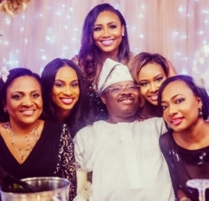 Oyo Governor Takes Pic With His Four Beautiful Daughters [See Photos]